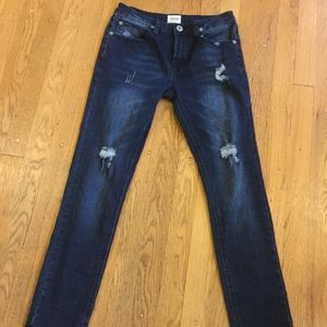 Hudson jeans distressed skinny girls sz 14